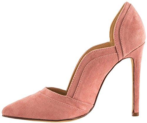 11CM Stiletto Damen Schuhe Schlüpfen Pink Caas Calaier Pumps 4g7pf