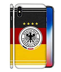 ColorKing Football Germany 15 Multicolor shell case cover for Apple iphone X