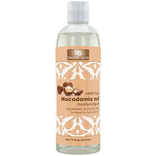 Beauty Aura 100% Pure Macadamia Oil, 16 Fl Ounce