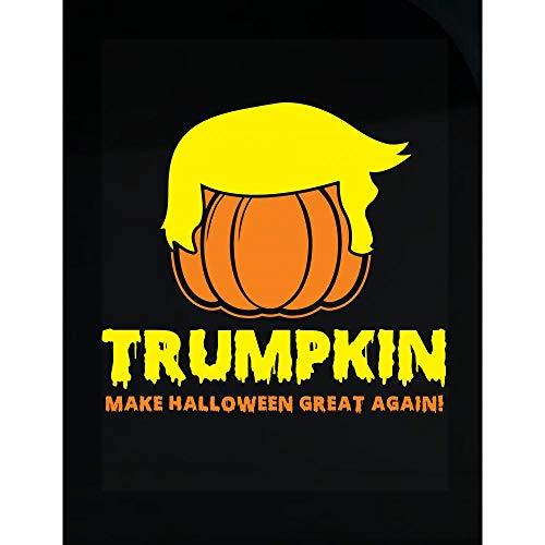 worlddesignsclub Pumpkin Make Halloween Great Again Funny Gift - Transparent Sticker ()
