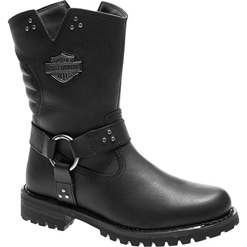 Harley Davidson Womens Barford Leather Boots Black