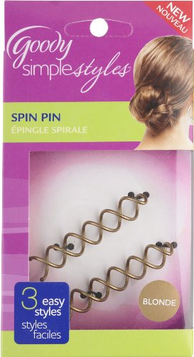Price comparison product image Goody Simple Styles Spin Pin, Assorted Colors Dark or Light Hair, 2 Count