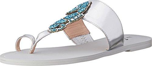 kate spade new york Women's Cazabon Toe Ring Sandal, Silver, 5 M US