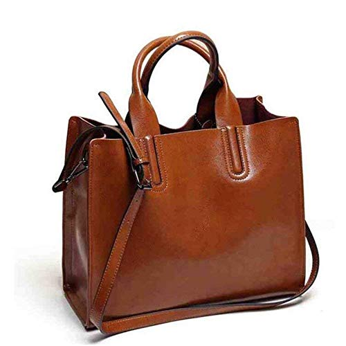 a donna per Moontang Pu Large Tote Size bag pelle colore in casual di tracolla Borsa dwqFStvxCC