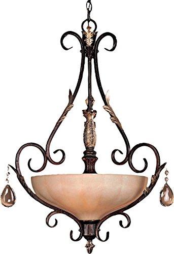 (Minka Lavery Crystal Pendant Ceiling Lighting 773-301, Bellasera Large Bowl, 3 Light, 180 Watts,)