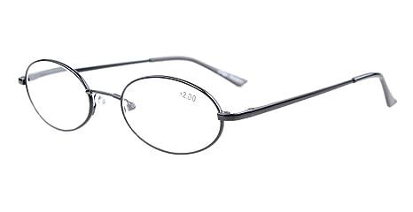7d6e892939c5d Eyekepper Lunettes de lecture Lunette de vue ovale - Titane metal qualite  souple leger +