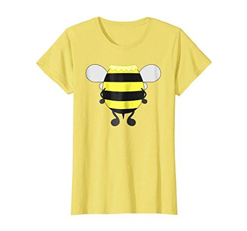 Womens Funny Bee Costume Easy Shirt - Honeybee Halloween Cheap Gift Large Lemon -
