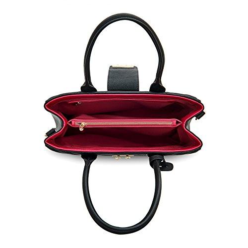 Black Quilted Tote Labante London Ladies Shoulder Pu Vegan Large Grey Leather Bags Bag Gwen Work w6qSwUY