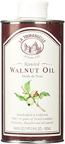 Oil Roasted Walnut Tin 16.9 oz/500 ml-Pack of 6 by La Tourangelle