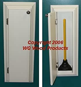 Amazon.com: (TP 9) Recessed In The Wall Bathroom Toilet Plunger Cabinet,  Inset In The Wall Between Studs, Solid Wood, Accommodates Up To A 5 ½u201d  Force Cup ...