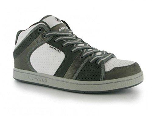 Airwalk skateboarding shoes Brian Mid Junior White / Grey / Silver - Sneaker Skate Shoes Varios colores