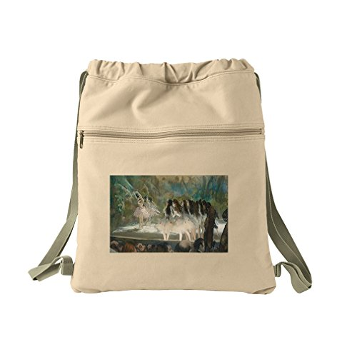 Ballet At The Paris Opera (Degas) Canvas Dyed Sack Backpack Bag (Degas Bag Ballet)