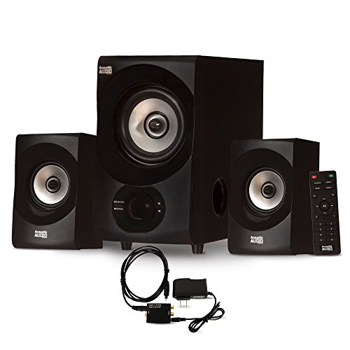 Acoustic Audio AA2171 Bluetooth 2.1 Home Speaker System with Digital Optical Input Multimedia by Acoustic Audio by Goldwood