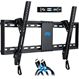 "Mounting Dream Tilt TV Wall Bracket Mount for Most of 37-70 Inches TV, Mount with VESA up to 600x400mm, Fits 16"", 18"", 24"" Studs and Loading Capacity 132 lbs, Low Profile and Space Saving MD2268-LK"