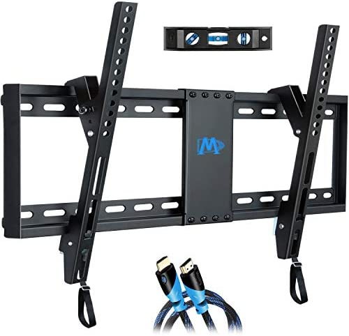 Mounting Dream Tilt TV Wall Mount Bracket for Most 37-70 Inches TVs, TV Mount with VESA up to 600x400mm, Fits 16″, 18″, 24″ Studs and Loading Capacity 132 lbs, Low Profile and Space Saving MD2268-LK, UP to 600 VESA TV Wall Mount