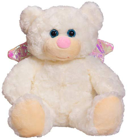 "Personlized Recordable Glitter Stuffed Christmas Angel Teddy Bear Cuddly Soft (8"" Recordable) from Teddy Mountain NY"
