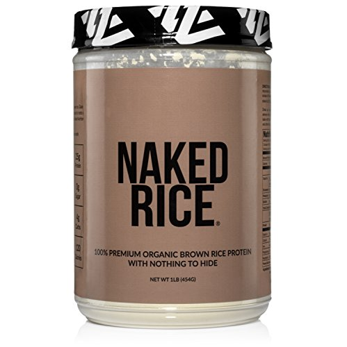 Naked Rice 1LB - Organic Brown Rice Protein Powder - Vegan Protein Powder - 5lb Bulk, GMO Free, Gluten Free & Soy Free. Plant-Based Protein, No Artificial Ingredients - 15 Servings