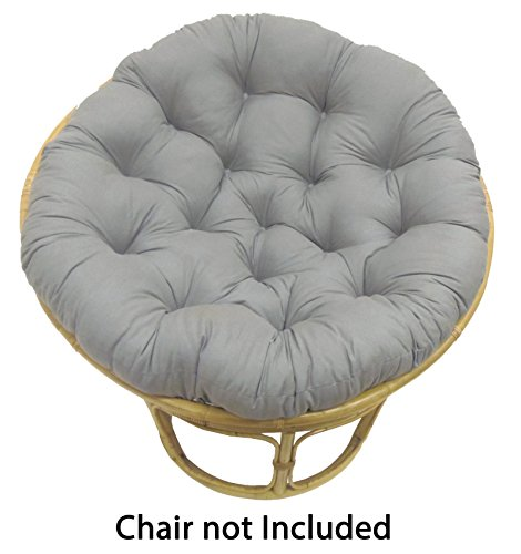 Cotton Craft Papasan Charcoal - Overstuffed Chair Cushion, Sink into our Thick Comfortable and Oversized Papasan, Pure 100% Cotton duck fabric, Fits Standard 45 inch round Chair - Chair not included (Cushions Furniture Pier 1 Patio)