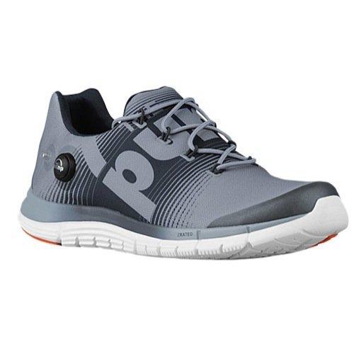- Reebok Zpump Fusion Mens Running Shoe 10.5 Grey-Gravel-Swag Orange