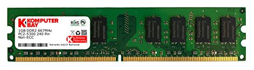 - Komputerbay 1GB DDR2 PC2 5300 667Mhz 240 Pin DIMM 1 GB