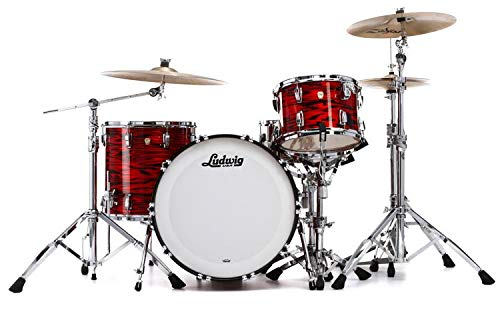 (Ludwig Classic Maple Pro Beat 24 Shell Pack - Red Swirl)