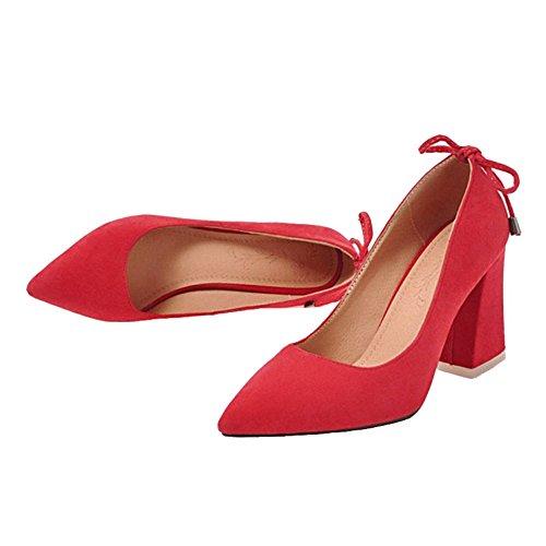 Rot mit Damen SJJH 7 Farben und Pumps großem E0wwSq6f