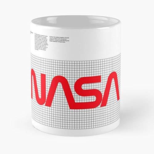 Nasa Worm Logo Grid Modernist Retro 70S Corporate Guideline Helvetica Space Geek - Best 11 oz Coffee Mug Cheap Gift