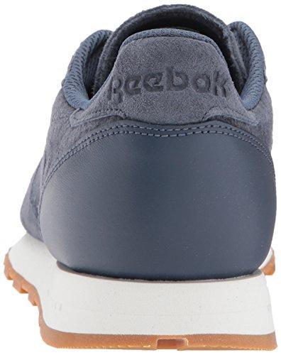 Reebok Mens Cl Cuir Sg Sneaker Enfumé Indigo / Craie-gomme