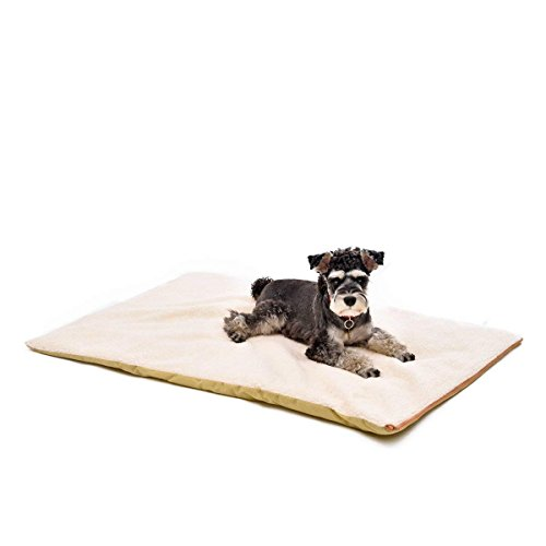 Speedy Pet Dog Bed Mats Reflective Thermal Winter Sleeping Warm Fleece Faux Fur Cushion Soft Durable Dog Cat Bed Pad with Anti-Slip Removable Washable Cover for Small Medium Large Pet -
