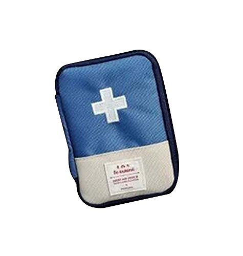 Unique Portable First Aid Kit Travel Medical Box for Camping, Hiking- Dark Blue by Panda Superstore