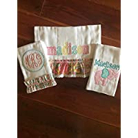 Monogram Burp Cloths Baby Girl Burp Cloth Sets Personalized Burp Cloths