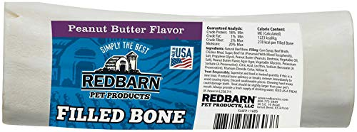 Redbarn Filled Bone Peanut Butter, Large ()