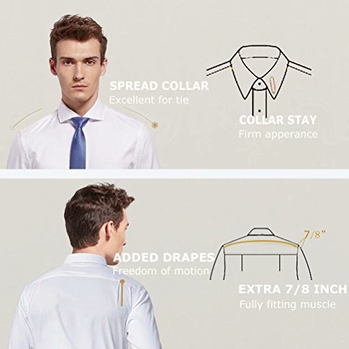 diig Men Dress Shirt White 14.5 by diig (Image #2)