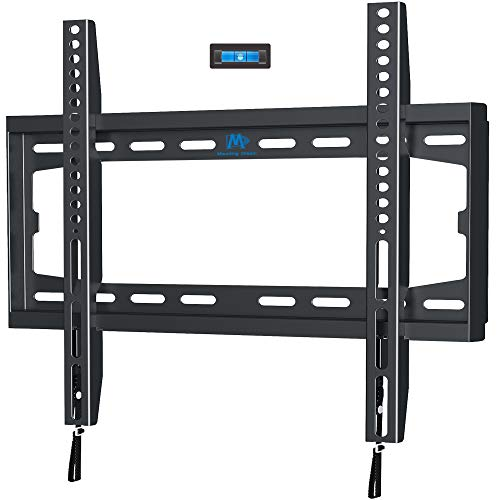 TV Mount Fixed for 32-55 Inch LED, LCD and Plasma TV, TV Wall Mount Bracket up to VESA 400x400mm and 100 LBS Loading Capacity, Low Profile and Space Saving by Mounting Dream MD2361-K