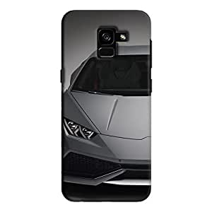 Cover It Up - Lambo White Galaxy A7 2018 Hard case