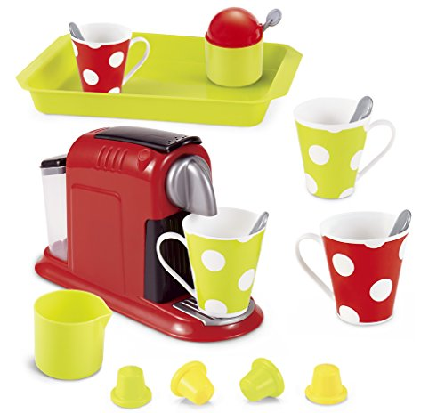 Genius Art Kids Kitchen Accessories - Coffee Maker Play Set - Pretend Play Toy 2018 - Play Set Maker Coffee