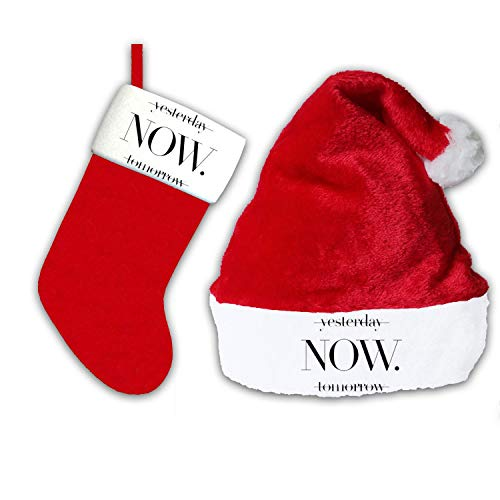 Christmas Stocking Now is The Most Important Santa Hat Red P
