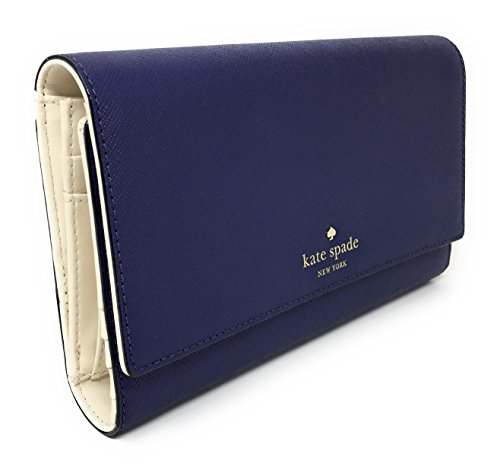 Kate Spade New York Mikas Pond Phoenix Trifold Leather Wallet (Sapphire) by Kate Spade New York (Image #1)