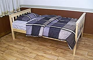 product image for DutchCrafters Amish Kids Twin Mission Bed (Unfinished Pine)