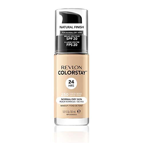 Revlon ColorStay Make Up Cutis Base de Maquillaje con SPF 20, Normal/Seco, Fresh Beige, 30 ml
