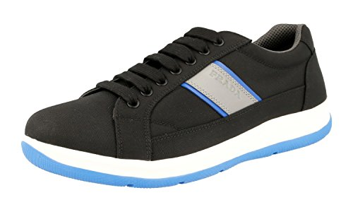 Prada Mens 4E2987 OQ6 F098P Fabric Sneaker vC4tfB9QxR