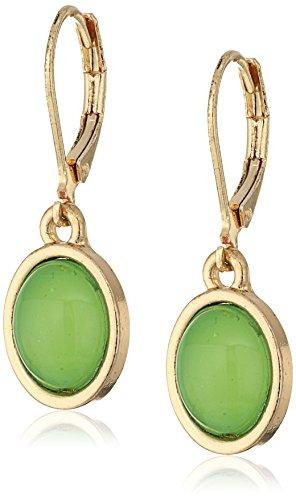 Cabochon Oval Earrings - 5