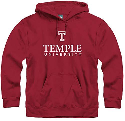 Ivysport Temple University Owls Hooded Sweatshirt, Legacy, Cardinal, Medium