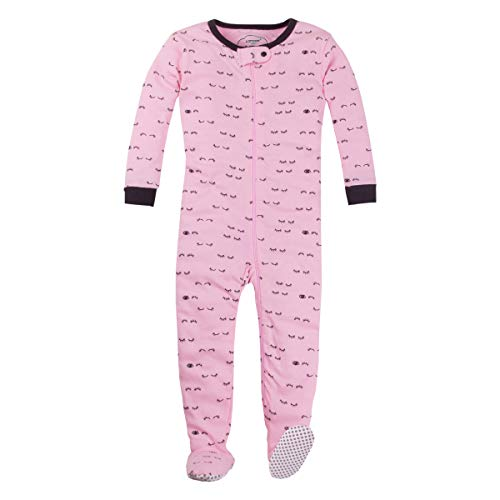 LAMAZE Organic Baby/Toddler Girl, Boy, Unisex Stretchie Pajamas, Pink, 24M