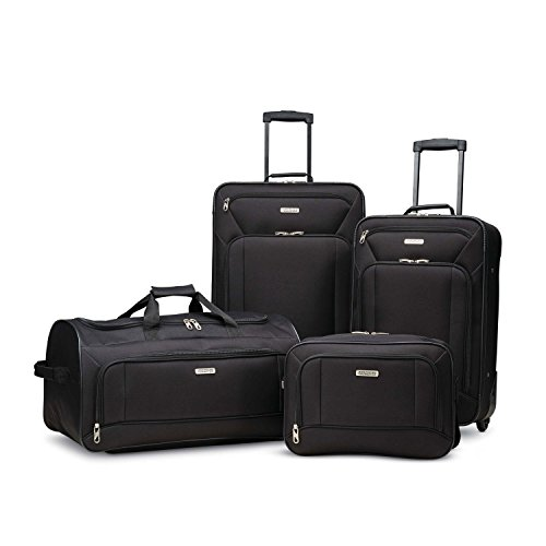 American Tourister 4-Piece Set, Black American Tourister Luggage Set