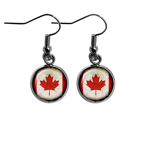 Canada Canadian Flag Surgical Steel Earrings