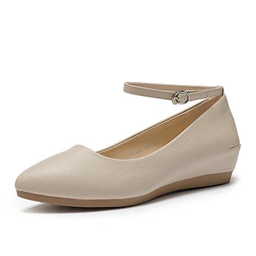 PUMPS Lady Schuhe IM Herbst,Die Steigung und Die Spitze Des wortes Schnalle Schuhe-B Fußlänge=23.8CM(9.4Inch)