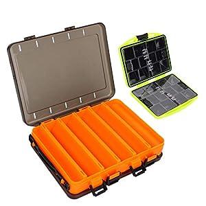 yidenguk Tackle Box Organizer, 2PCS Protable Fishing Tackle Boxes Double Sided Fishing Lure...