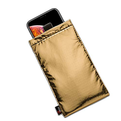 PHOOZY Thermal Phone Case - Helps Prevent OVERHEATING in The Sun, EXTENDS Battery Life and Floats in Water. Fits iPhone 8/X/XR/11 Pro, Galaxy S9/S10 and Similar Sized Phones [Apollo Gold in Plus Size]