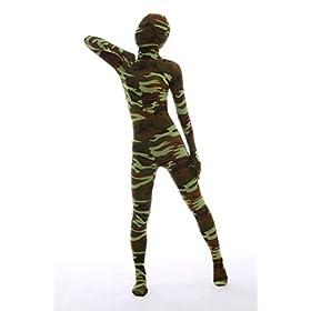 - 41nBQ7EwW9L - Halloween Dress Up Lycra Spandex Zentai Costume Full Printed Camouflage Cosplay Bodysuit